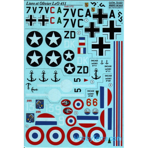Decal 1/72 for Liore et Olivier LeO 451