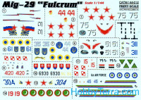 Decal 1/144 for MiG-29 fighter