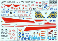 Decal 1/144 for Sukhoi Su-27