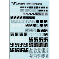 Luftwaffe swastikas 1940-45, scale 1/72-1/48