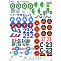 Decal 1/48 for MiG-17 Fresco, Part 2