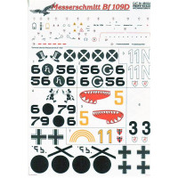 Decal for jet fighter Me-109 D