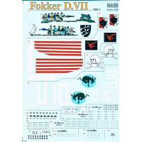 Decal for jet fighter Fokker D VII Part 1, 4 sheets