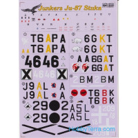 Decal 1/48 for Junkers Ju-87 Stuka (2 sheets)