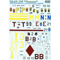 Decal 1/48 for SAAB J29 Tunnan
