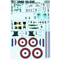 Decal 1/48 for Spad VII-XVII, Part 1