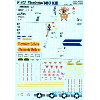 Decal 1/48 for F-105 Thunderchief, part 1