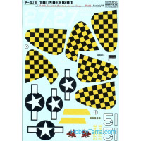 Decal for P-47D Thunderbolt Razorback Aces over Europe, Part 1