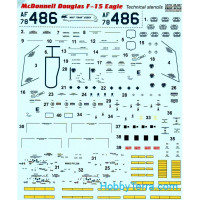 Decal 1/48 for F-15 Eagle