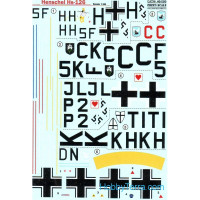 Decal 1/48 for Henschel HS126