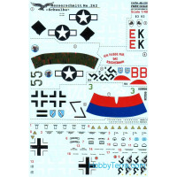 "Decal 1/48 for Messerschmitt Me.262 ""Schwalbe"""