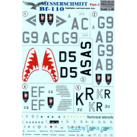 Decal 1/48 for Messerschmitt Bf.110, Part 1
