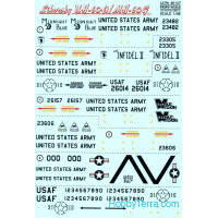 Decal 1/48 for Sikorsky UH-60A/MH-60G
