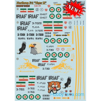 "Decal 1/48 for Northrop F5 ""Tiger II"" Iranian Tigers, Part 1"