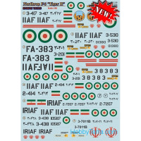 "Decal 1/48 for Northrop F5 ""Tiger II"" Iranian Tigers, Part 2"