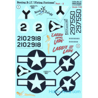 Decal 1/48 for Boeing B-17 Flying Fortress, Part 2