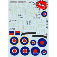 Decal 1/48 for Hawker Tempest, Part 1