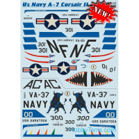 Decal 1/48 for US Navy A-7 Corsair ll, Part 2