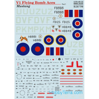 Decal 1/48 for Mustang V1