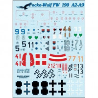 Decal 1/72 for Focke-Wulf FW 190 A2-A9