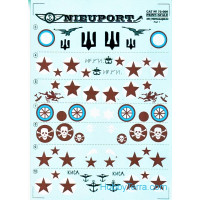 Decal 1/72 for Nieuport 17-25 biz,  Part 1