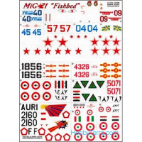 "Decal 1/72 for Mig-21 ""Fishbed"""