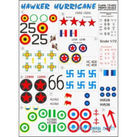 Decal 1/72 for Hawker Hurricane