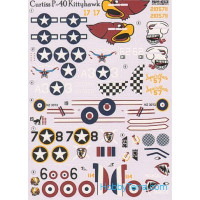 Decal 1/72 for USAF Curtiss P-40 Kittyhawk