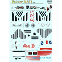 Fokker D VII, Part 1, 4 sheets
