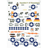 Decal 1/72 for Republic P-47 Thunderbolt, Part 1
