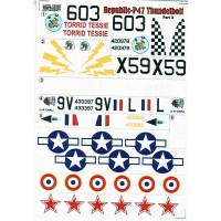 Decal 1/72 for Republic P-47 Thunderbolt, Part 2