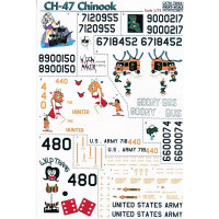 Decal for helicopter CH-47 Chinook