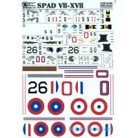 Decal 1/72 for Spad VII-XVII