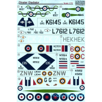 Decal 1/72 for Gloster Gladiator, Part 1