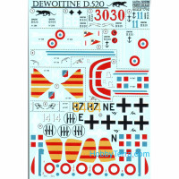 Decal 1/72 for Dewoitine D.520
