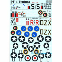 Decal 1/72 for PV-1 Ventura