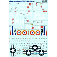 Decal for Grumman F6F Hellcat