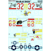 Decal 1/72 for B-26 Marauder bomber