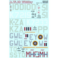 Decal for Armstrong Whitworth A.W.38 Whitley