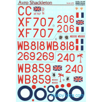Decal 1/72 for Avro Shackleton