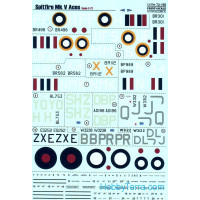 Decal 1/72 for Spitfire Mk V Аces