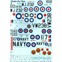 Decal for Hawker Sea Fury