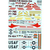 Decal for Lockheed F-80 Shooting Star