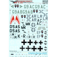 Decal 1/72 for Messerschmitt Bf.110 Night Fighter & Interceptor Aces