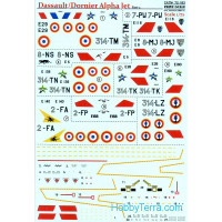 Decal 1/72 for Dassault/Dornier Alpha Jet, Part 2