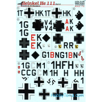 Decal 1/72 for He-111 H-4, H-5 & H-6 bombers, Part 3