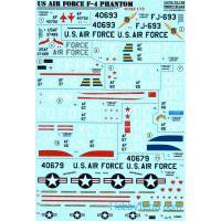 Decal 1/72 for USAF F-4 Phantom