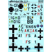Decal 1/72 Heinkel He-111, Part 4