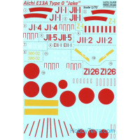 "Decal 1/72 for Aichi E13A Type O ""Jake"""