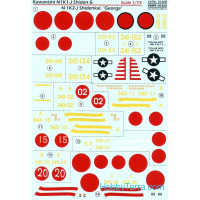 "Decal 1/72 for Kawanishi N1K1-J Shiden & N1K2-J Shidenkai ""George"""